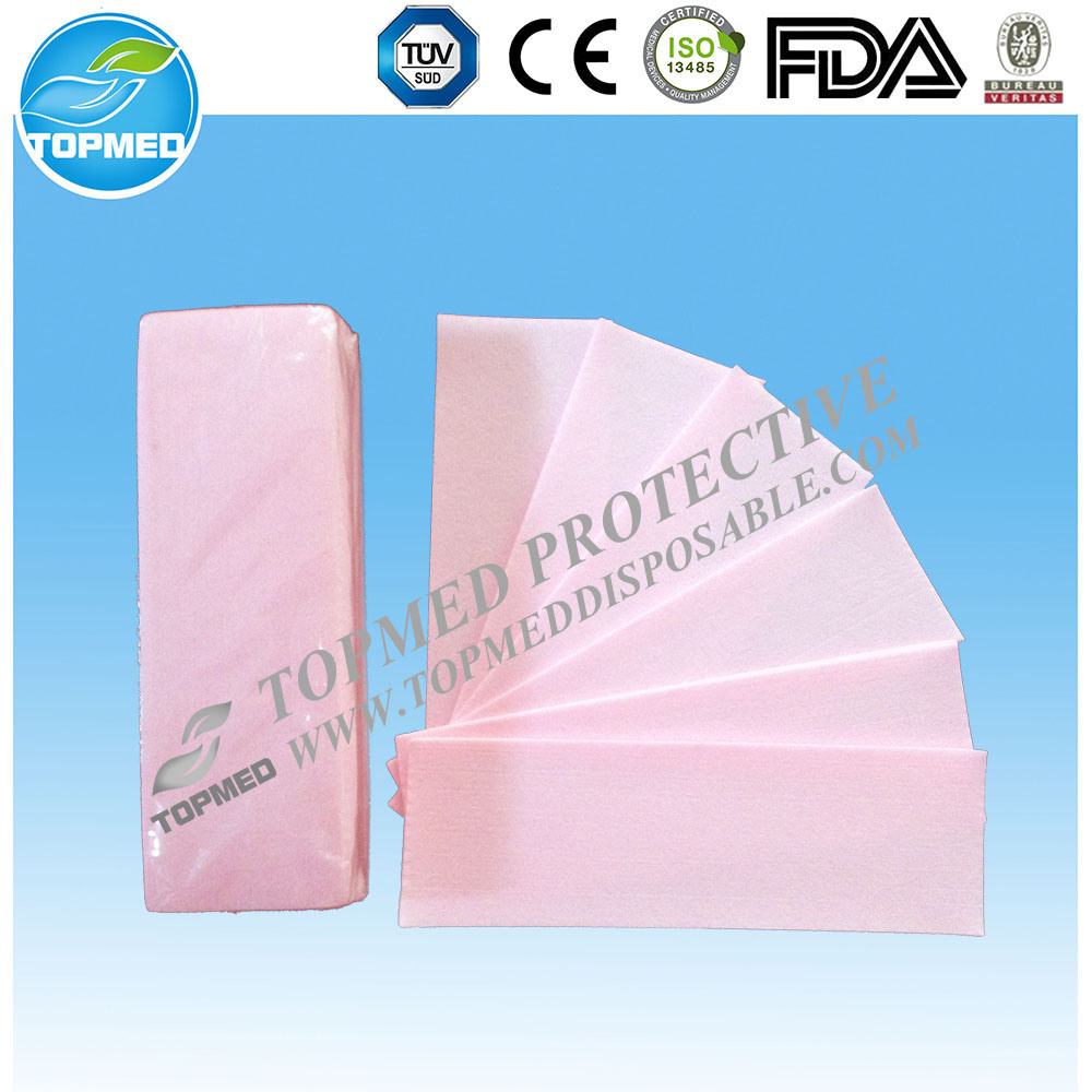 Topmed Disposable Hair Waxing Products, Nonwoven Depilatory Wax Strip