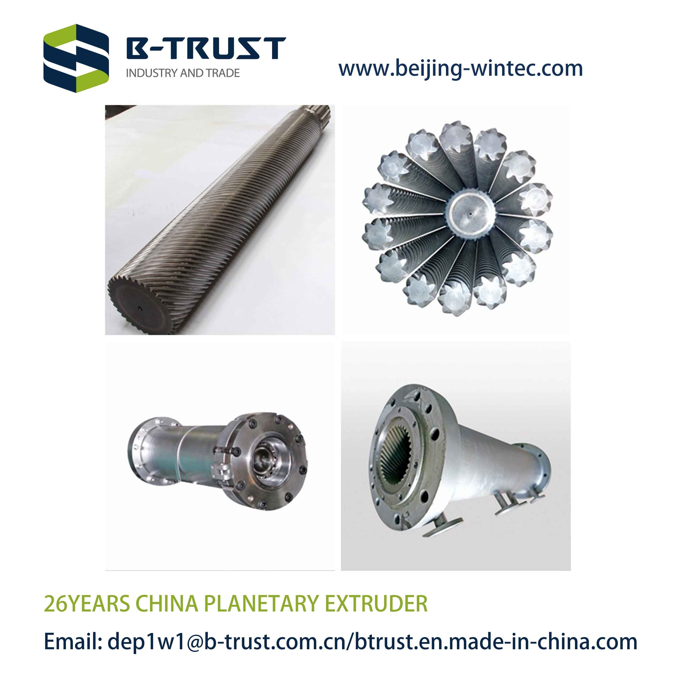 Planetary Extruder Spare Parts for German Extruder with Durable Planetary Screws