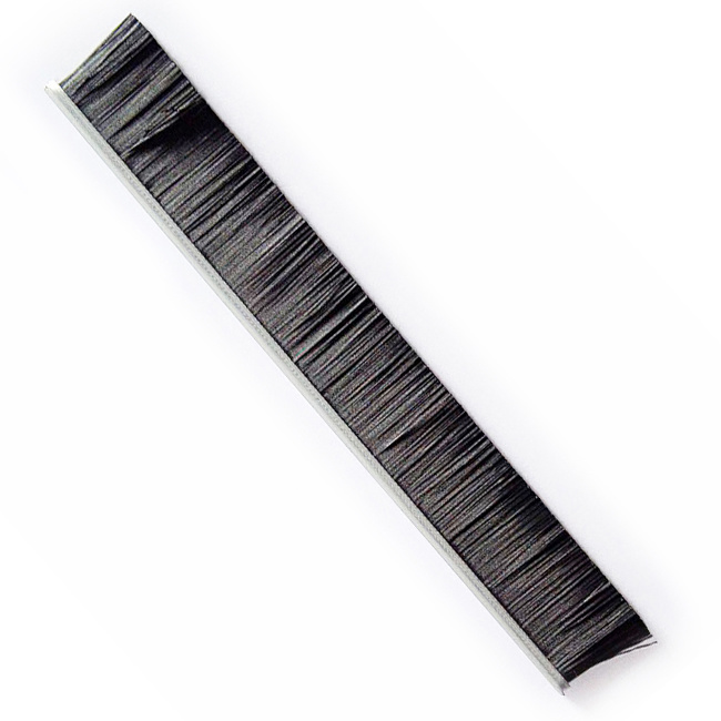 High Quality Nylon Weather Strip Brush Door Sweeper Brushes with Metal Channel