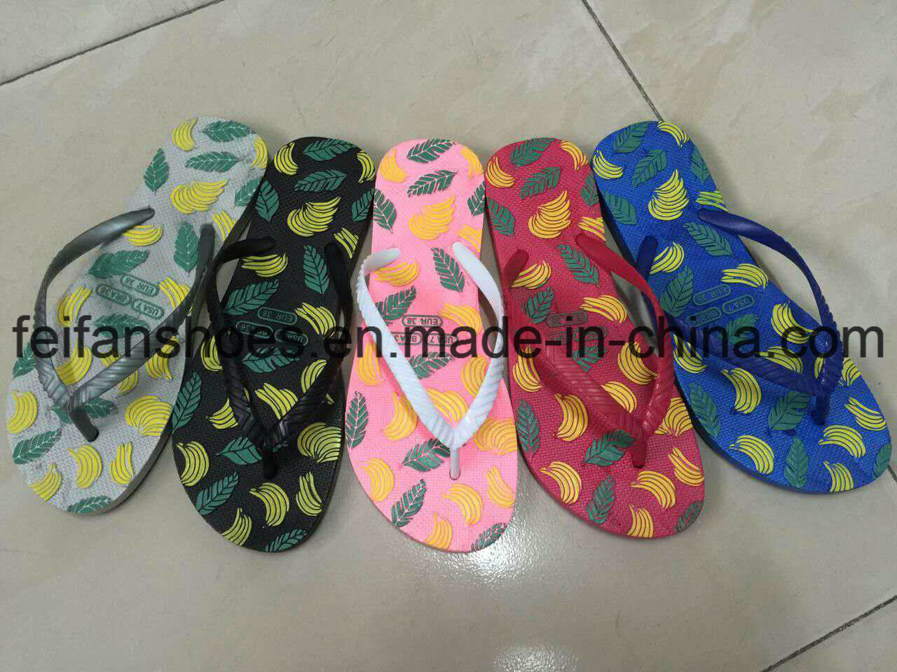Women PVC Slippers Good Price Flip Flops (FFDL112201)