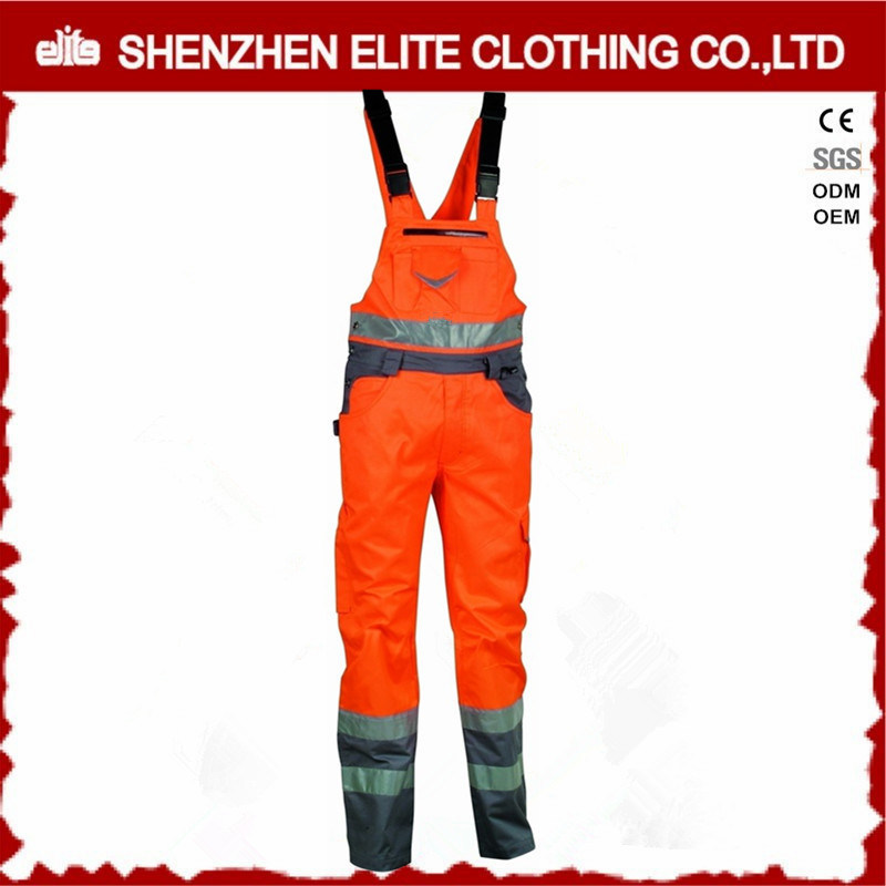 Safety 3m Reflective Corduroy Cotton Bib Overalls for Men