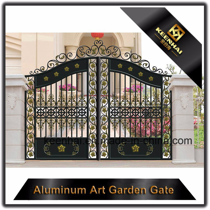Decorative Color Power Coated Metal Cast Aluminum Garden Gate
