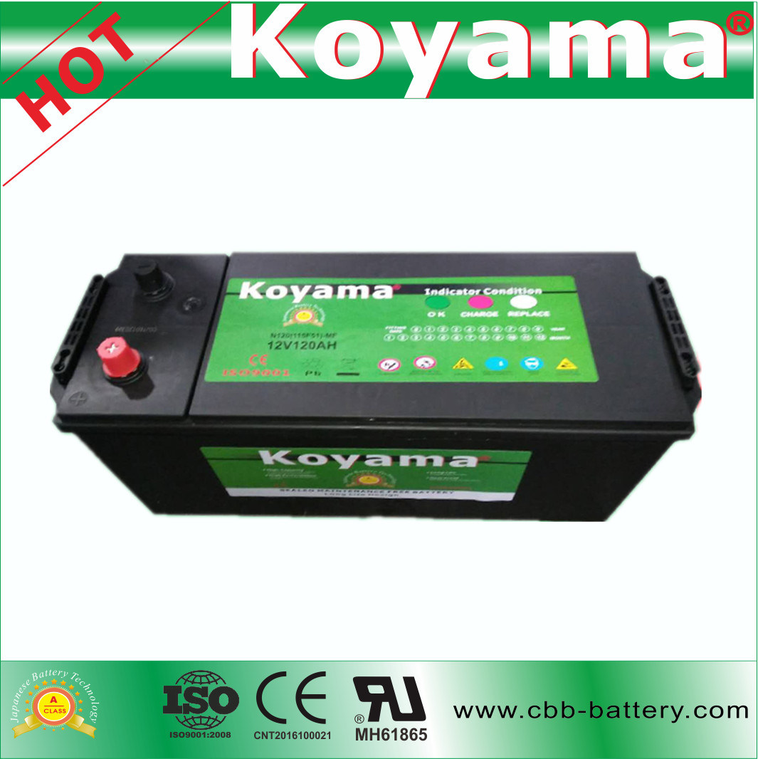 2017 New 120ah 12V Heavy Duty SMF Truck Battery N120