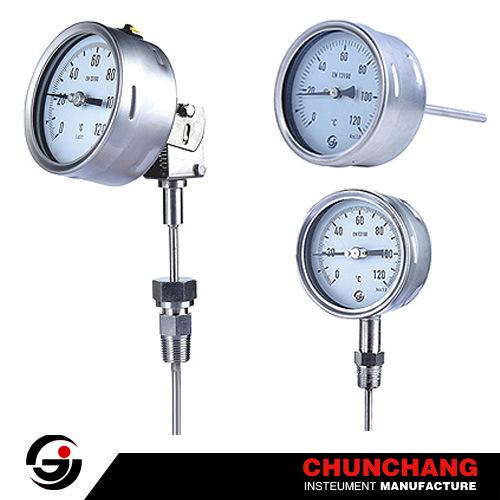 100mm Wika Type Economic Bimetal Temperature Gauge