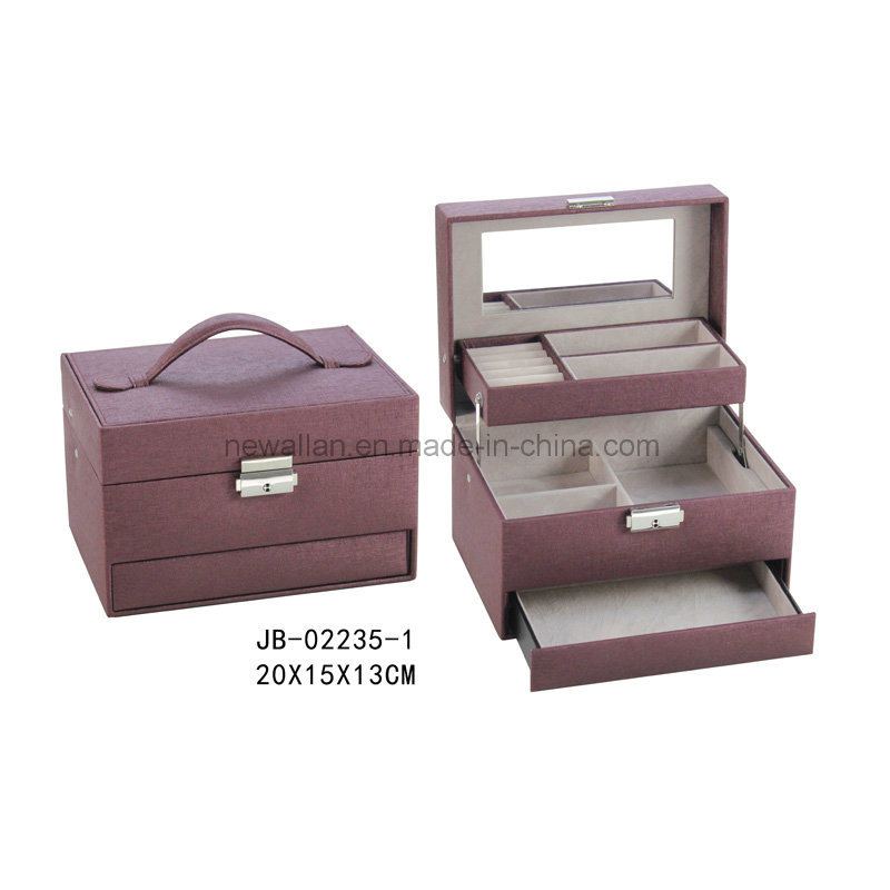 Sweet Design Purple Leather Jewelry Storage Box Jewelry Box