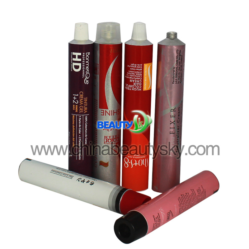 Hair Color Cream Collagen Packaging Aluminum Tubes
