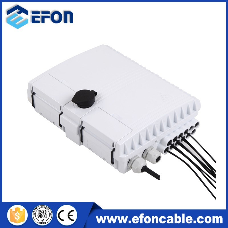 8 Port Fiber Optic Termination Boxes with Un-Cutting Cable