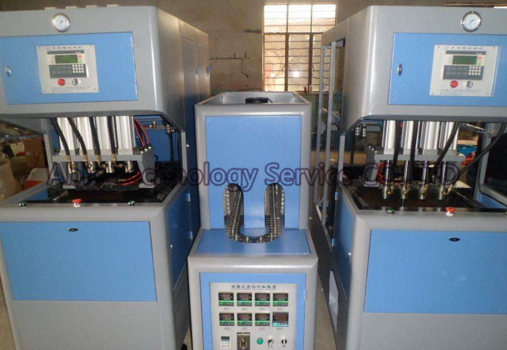 4-Cavity Semi-Auto Plastic Pet Bottle Blow Molding Machine