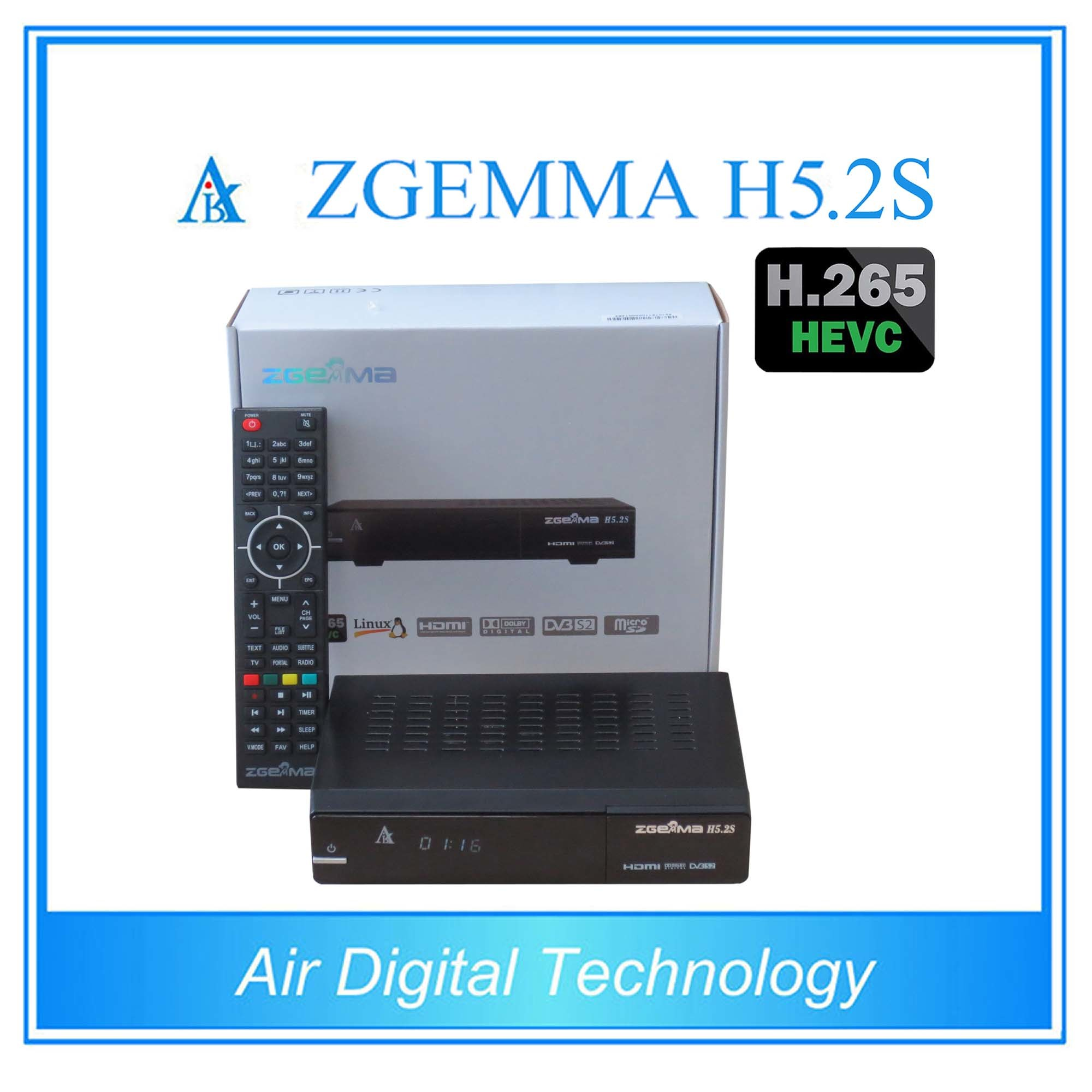 New Product Dual Core Bcm73625 H. 265 TV Decoder Twin DVB S/S2 Zgemma H5.2s