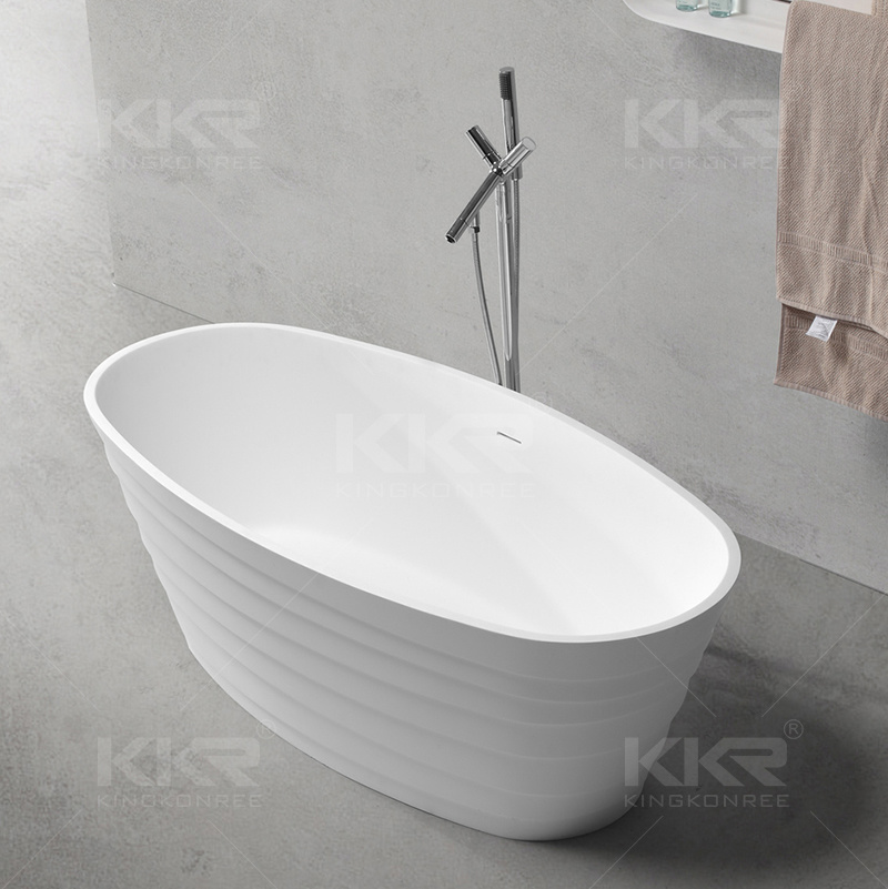 Egg Shaped Marble Stone Freestanding Hot Bath Tub (BT170511)