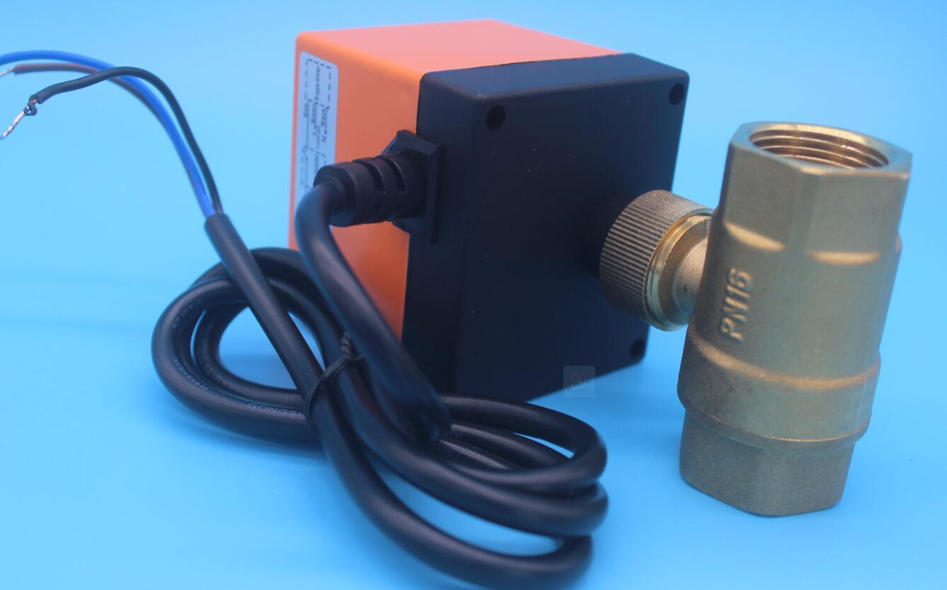 2/3 Way High Temperature Electric Actuated Bronze Brass Water Ball Valve (HTW-EG)
