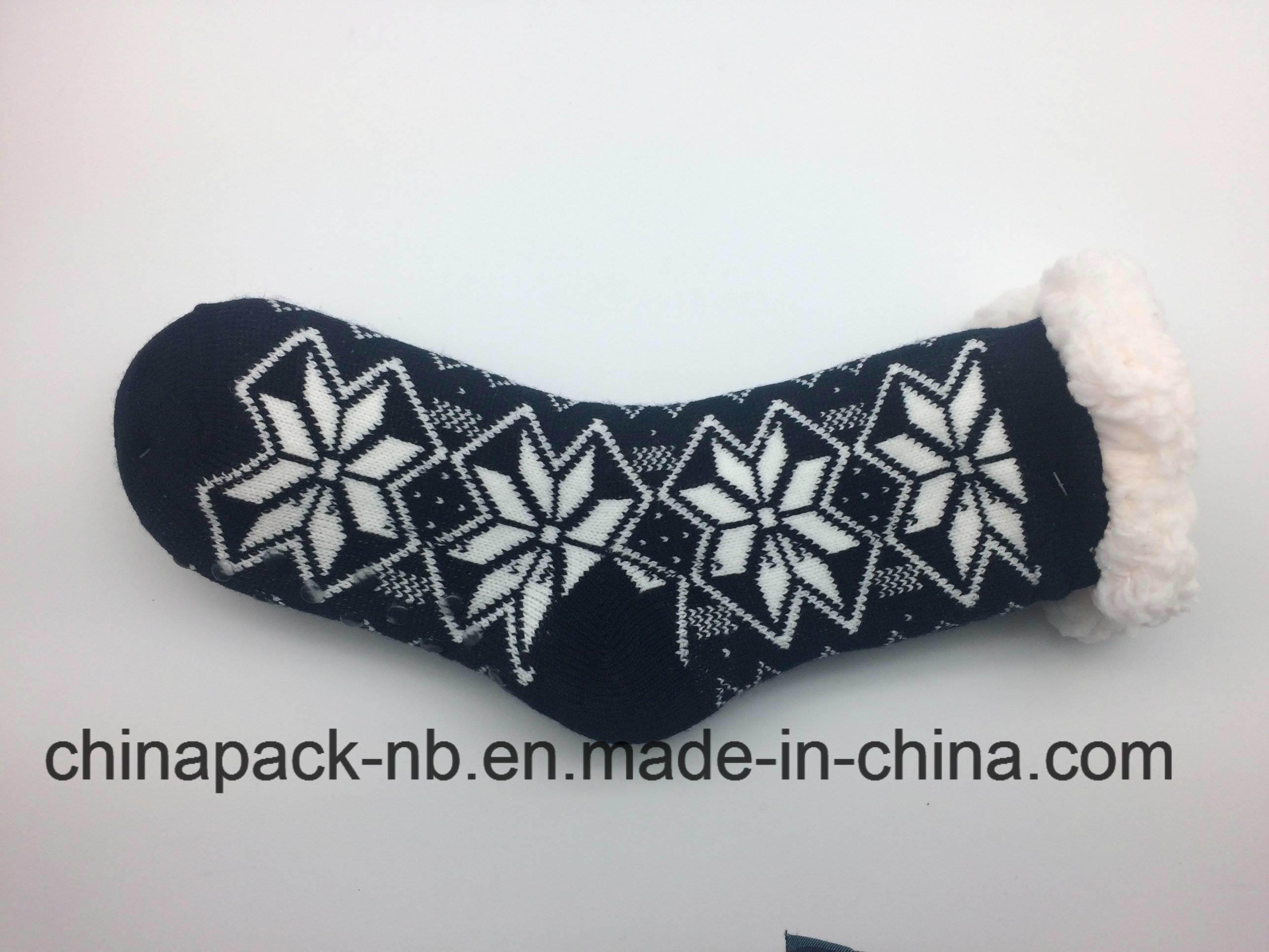 Homesocks Cotton Socks Solid Color, Single Color, Thick, Non-Slip