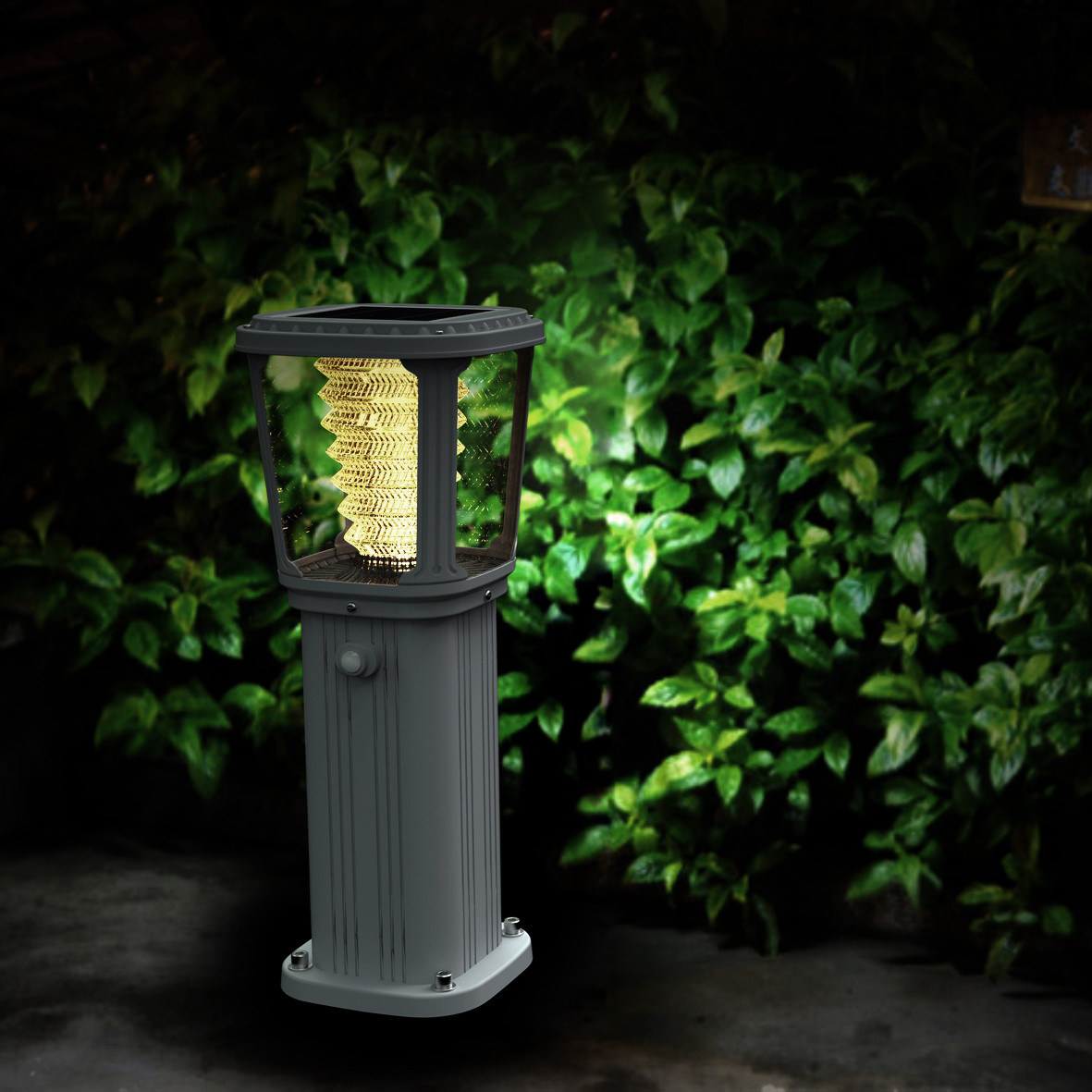 High Quality All in One LED Lawn Solar Lamp for Outdoor
