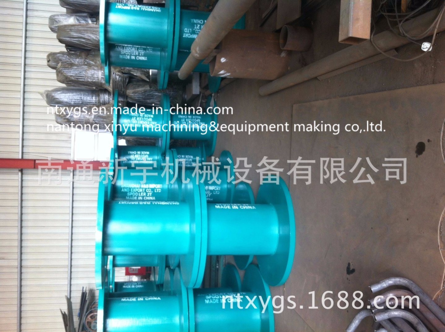 Factory Outlet Sky Blue Cable Reel for Steel Wire Rope