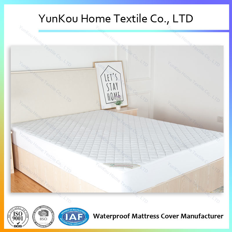 2017 Quality Waterproof Bamboo Fiber Terry Mattress Protector Laminated TPU