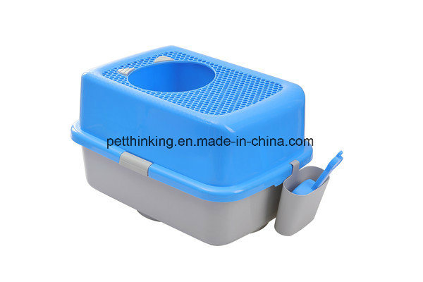 New Pet Toilet Top Entry Cat Litter Box