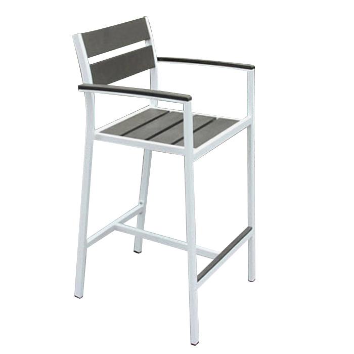 Stackable Aluminium Plastic Wood Outdoor Restaurant Furniture Bar Chair Table Set