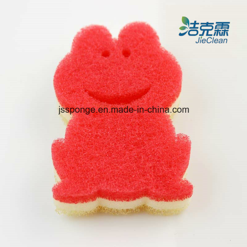 Lovely Frog Shape Filter Sponge, Cleaning Products, Washing Sponge, Cleaning Tool