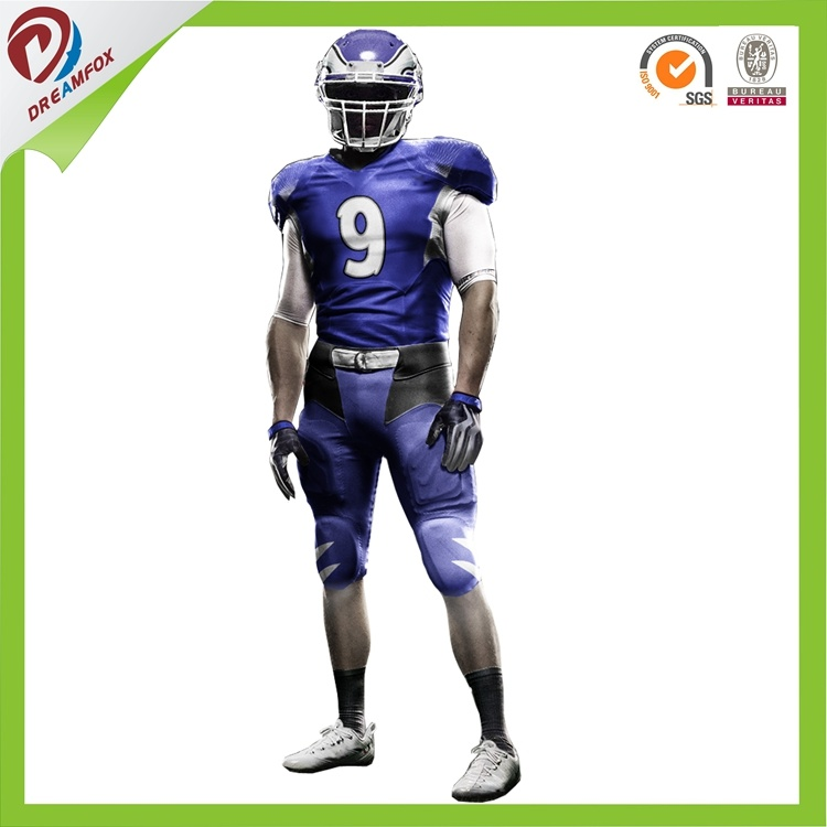 Latest Design Dry Fit Custom Sublimation American Football Jersey Design