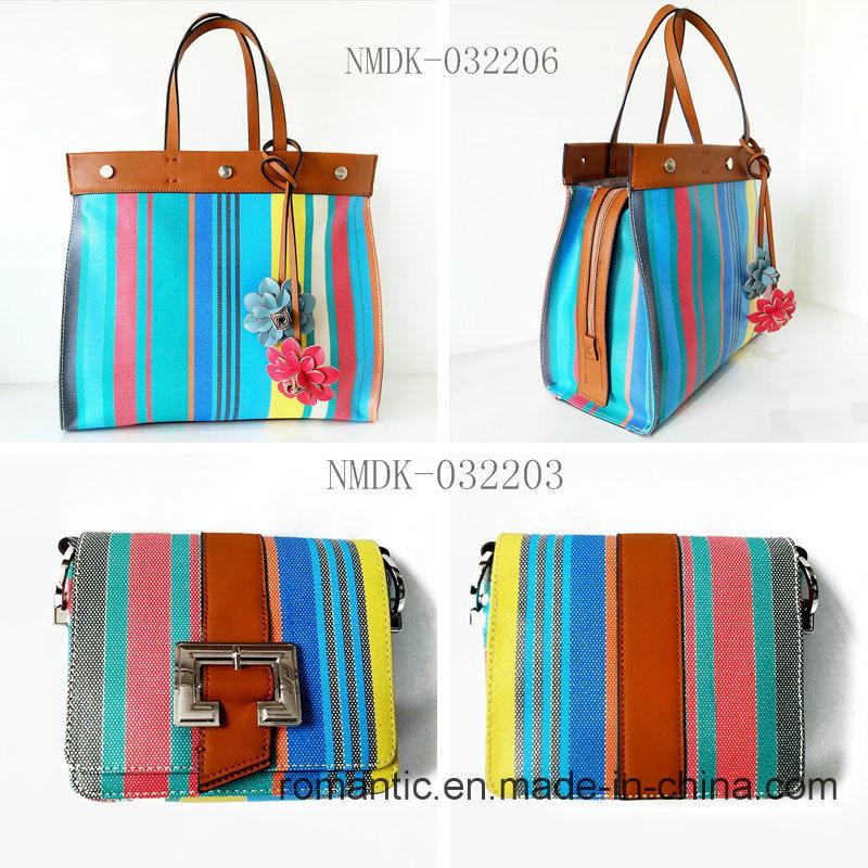 Fancy Colorful Elegant Lady PU Leather Handbags (NMDK-032206)