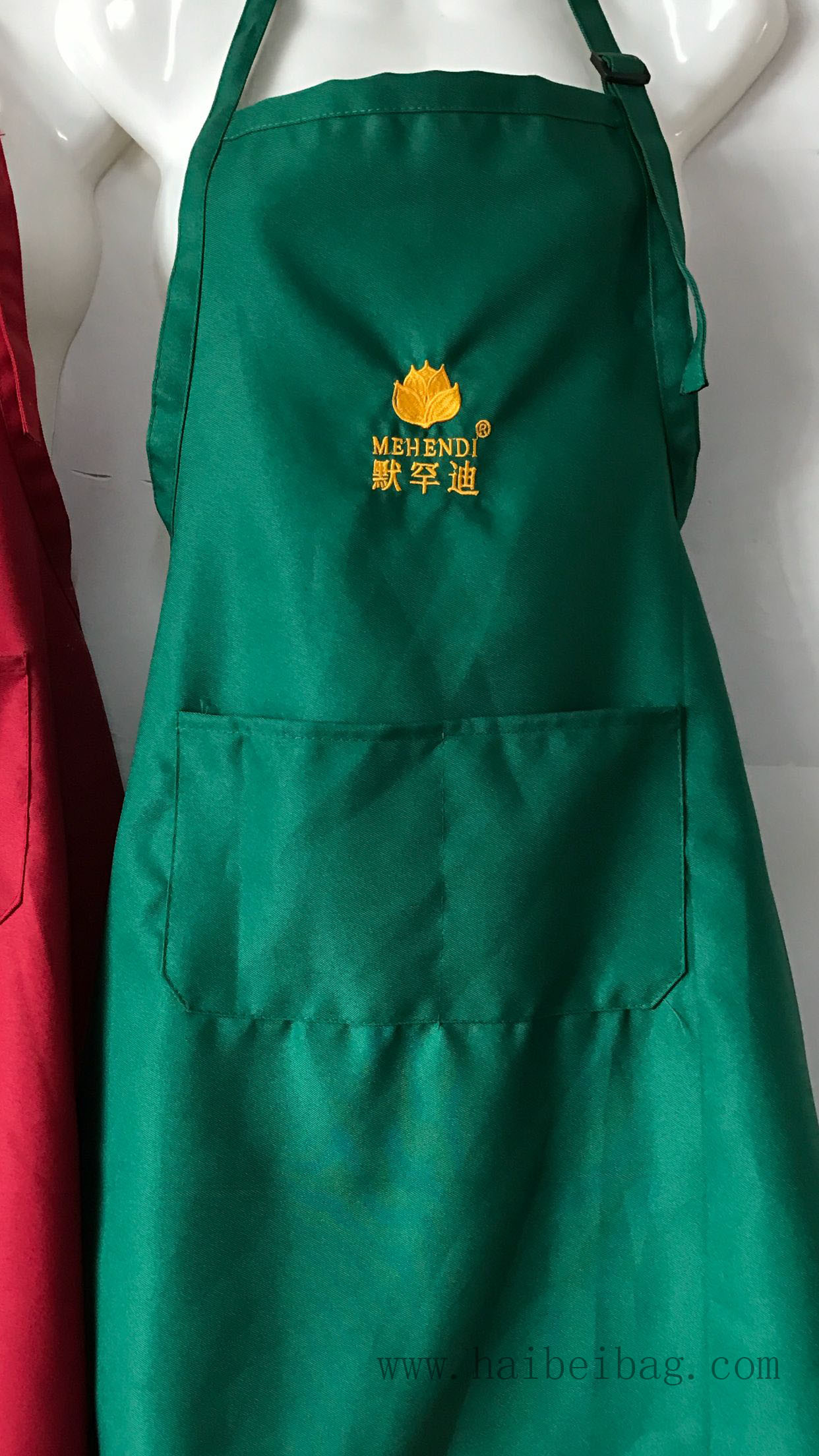 Promotional Branded Cotton / Non Woven / Polyester Kitchen Cooking Apron