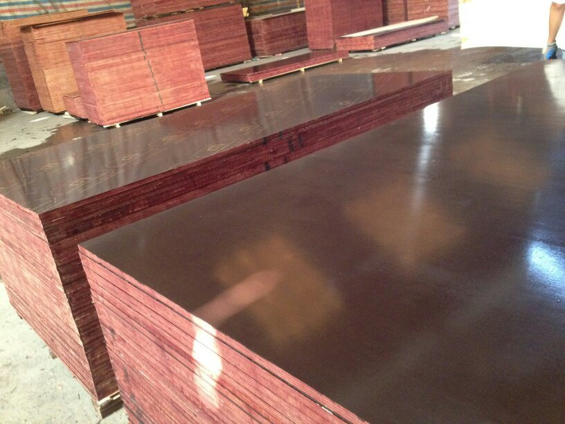 Film Faced Plywood, Size 1220X2440X18mm, Brown Film, 13 Ply, WBP Glue, Printing Logo on Film