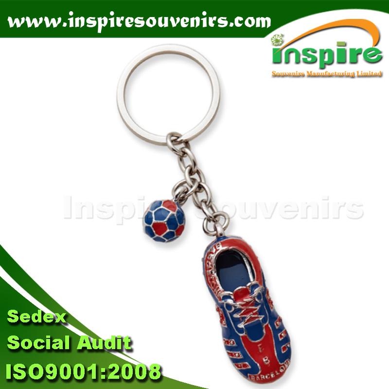 Zinc Alloy 3D Souvenir Shoe Keychain for Gift (MS834)