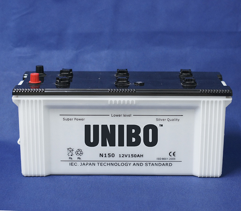 Truck Battery JIS Standard N150 12V150ah Dry Charged Lead Acid Auto Battery