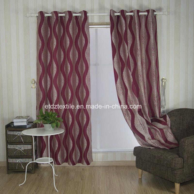 U. S. Popular Embroidery Like Window Fabric Curtain
