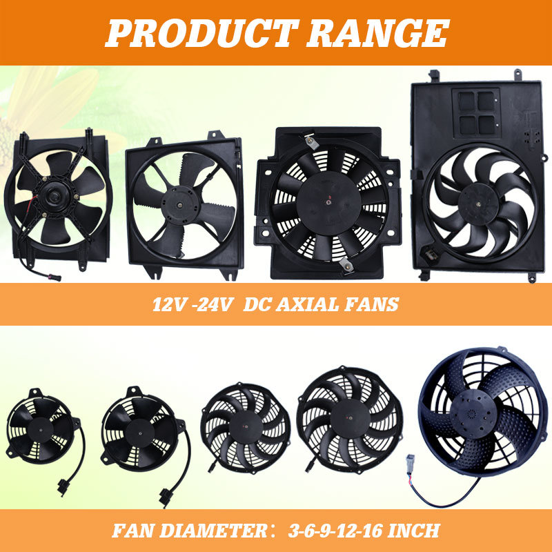 Axial DC Centrifugal Blower Fans for Bus