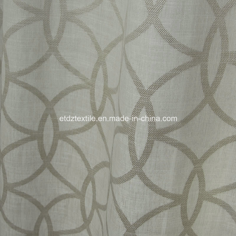 Top Sell 100% Polyester Linen Touching Window Curtain
