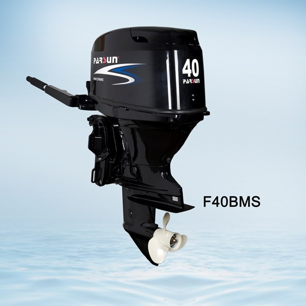 40HP 4-Stroke Boat Engine / Tiller Control / Electric Start / Short Shaft