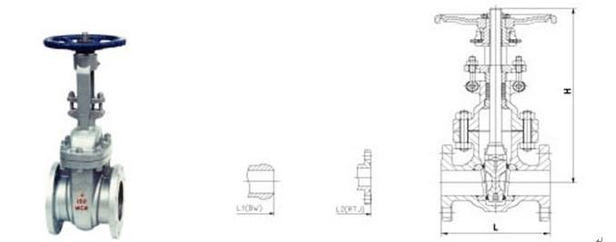ANSI 165. B API600 Cast Steel Gate Valve (Z40H)