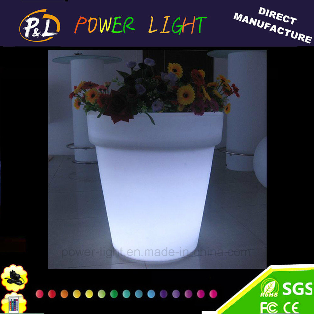 Waterproof Plastic Flower Pot/ Garden LED Flower Pot
