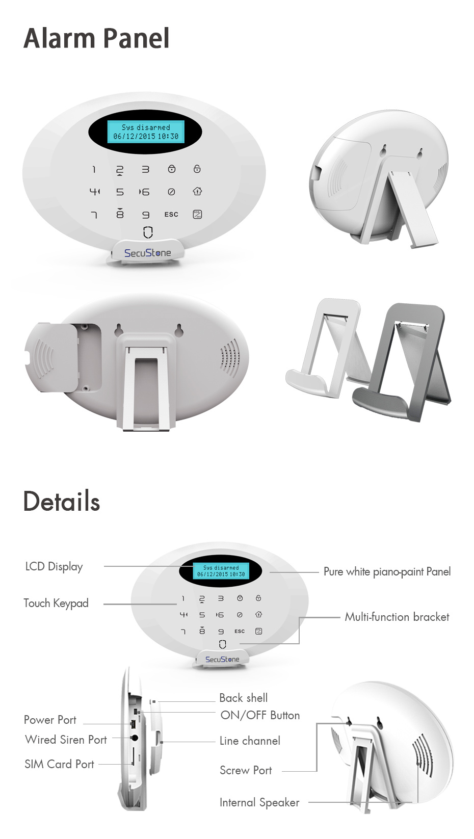 Secustone Home Burglar GSM (Global System for Mobile Communications) Alarm System with Alarm Detectors