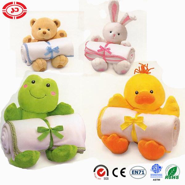 Baby Lovely Set Animal CE Blanket Plush Toy Gift Set
