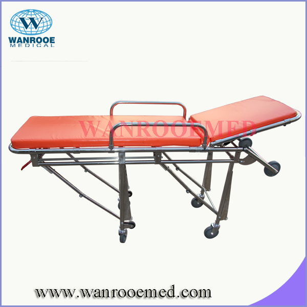 China New Medical Stainless Steel Ambulance Stretcher