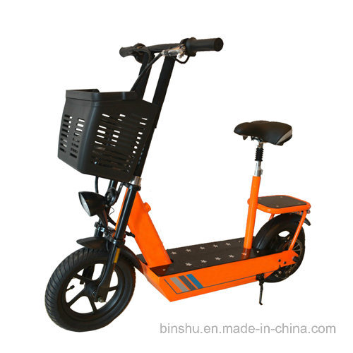 2 Wheel Electric Power Scooter with Rear Seat Carry Two People