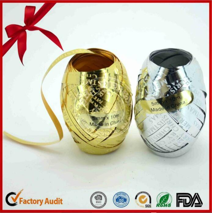 Wedding Decoration Golden Gift Wrapping Printed Ribbon Egg