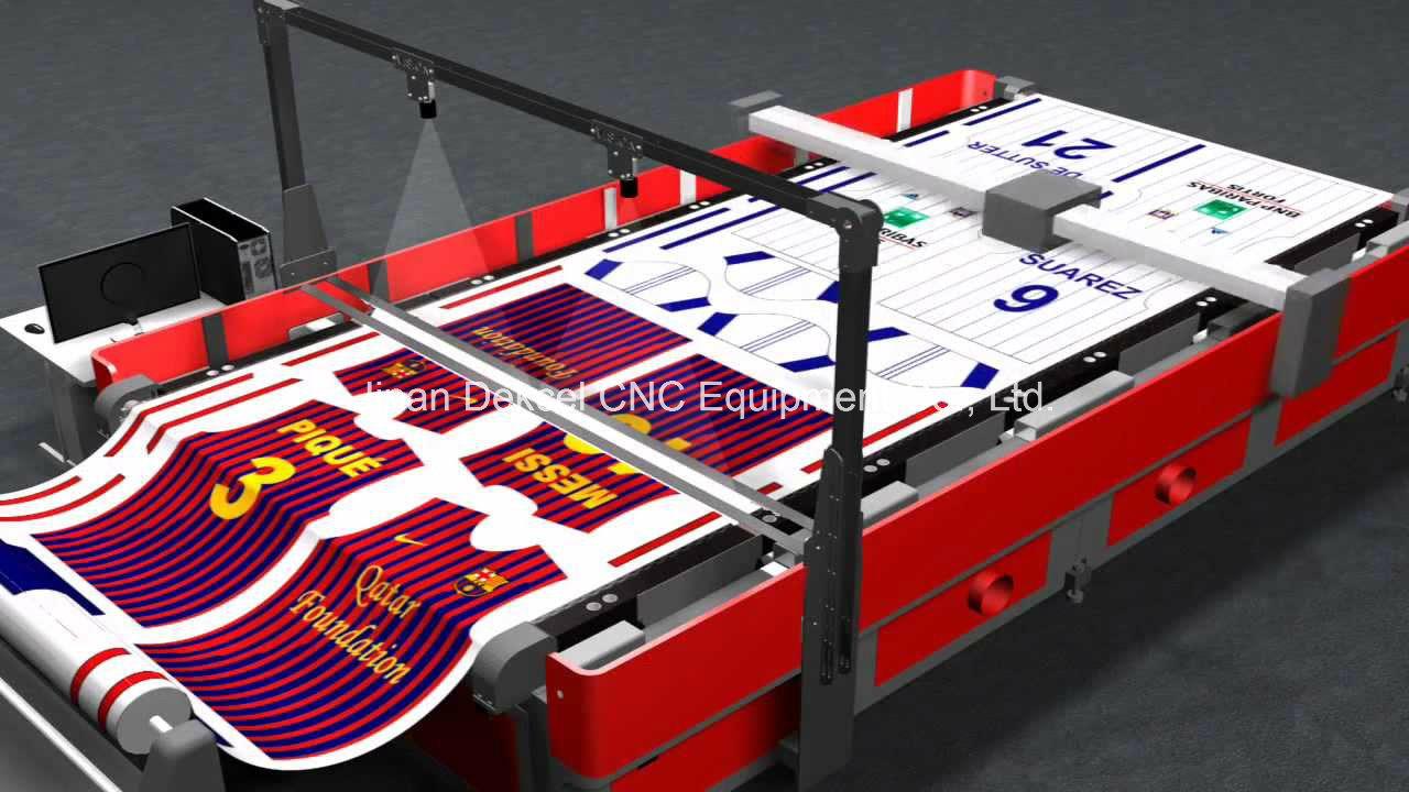 CCD Visual Camera Laser Cutting Machine Large Size Fabric/Leather/Logo/Label/Cloth Cutter