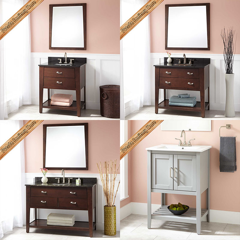 Fed-341 36 Inch Hot Sales Modern Solid Wood Bathroom Cabinet