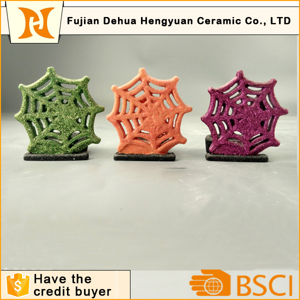 Christams Snowflake Shape Ceramic Candle Holder, Home Decoration