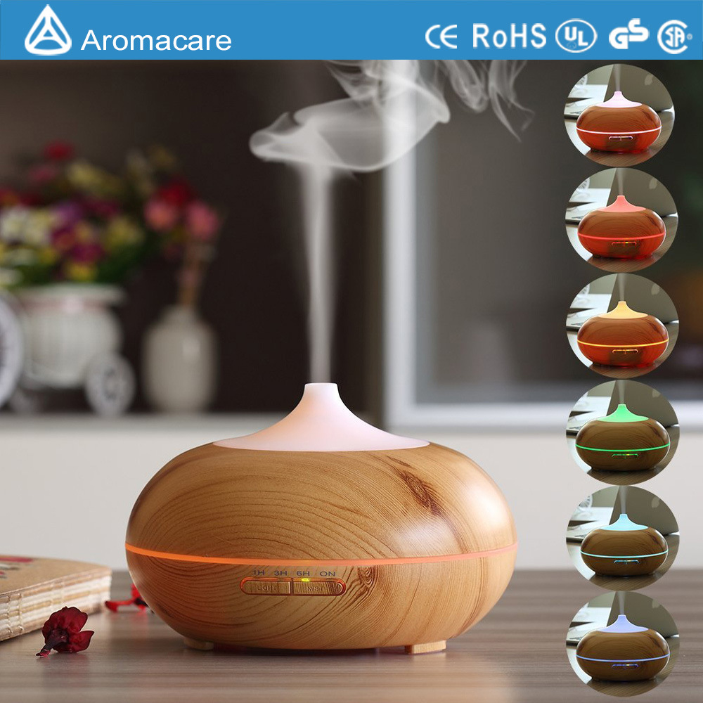 New Wood Grain Ultrasonic Cool Mist Humidifier (TA-032)