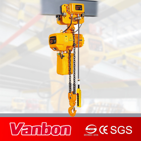 5ton Single Speed 2-Fall Chain Electric Chain Hoist