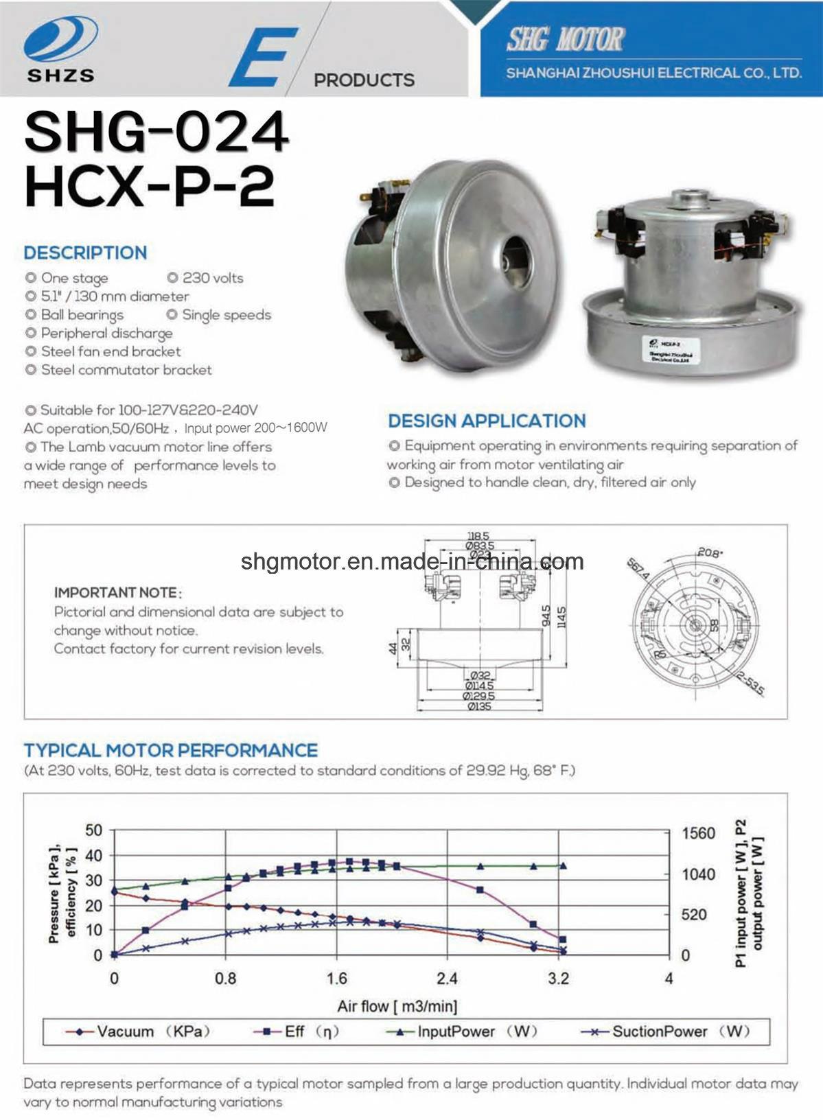 Vacuum Cleaner Motor for Hand Dryer (SHG-024)
