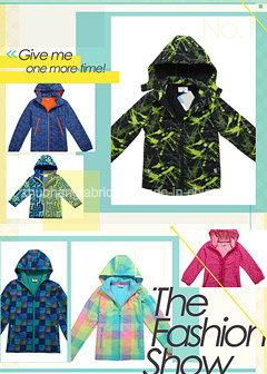 Children Water Proof & Breatnable out Door Softshell Fabric