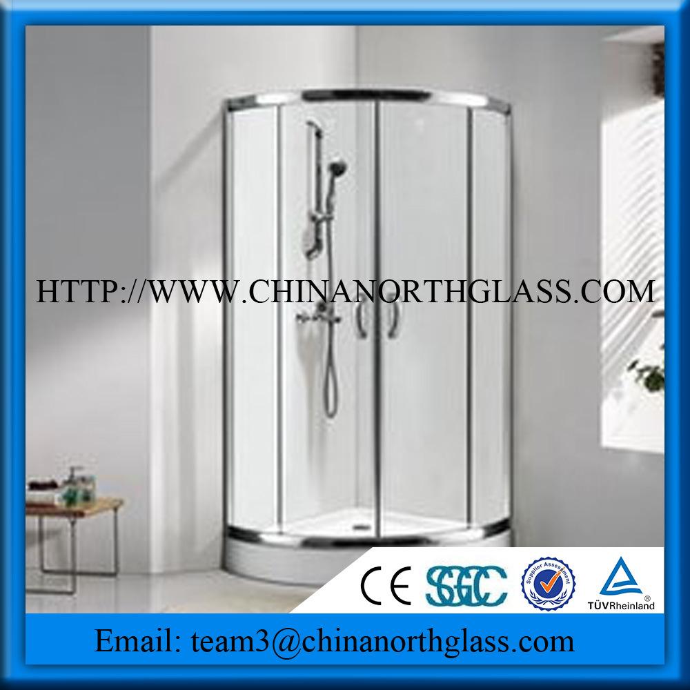 Tempered Toughtened Shower Door Glass