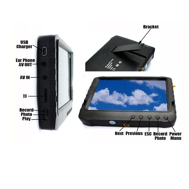 "5"" Fpv Monitor with 5.8GHz Diversity Receiver for Helicopter"