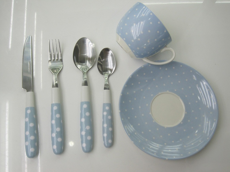 Plastic Handle Cutlery Set