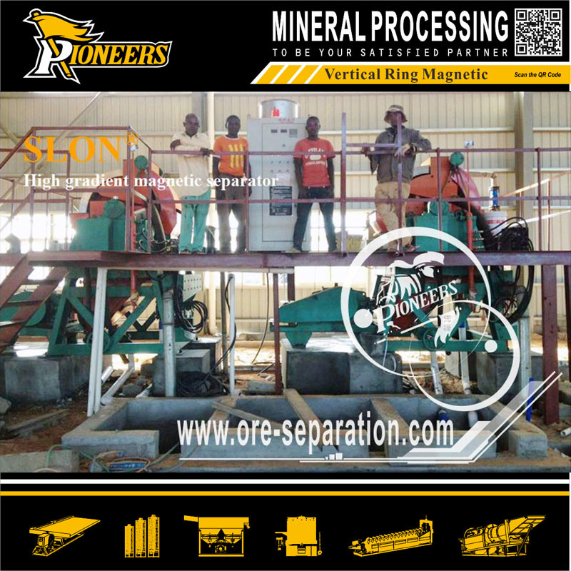 Iron Mining Machine Strong Intensity Slon Band Design Magnetic Separator